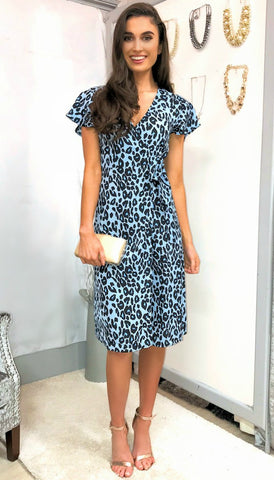 5-5397 Leaf Print Day Dress ---- (SIZE 18,20)