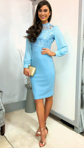 5-5378 Belted Midi Dress Cobalt Blue --- (SIZES 12,14)