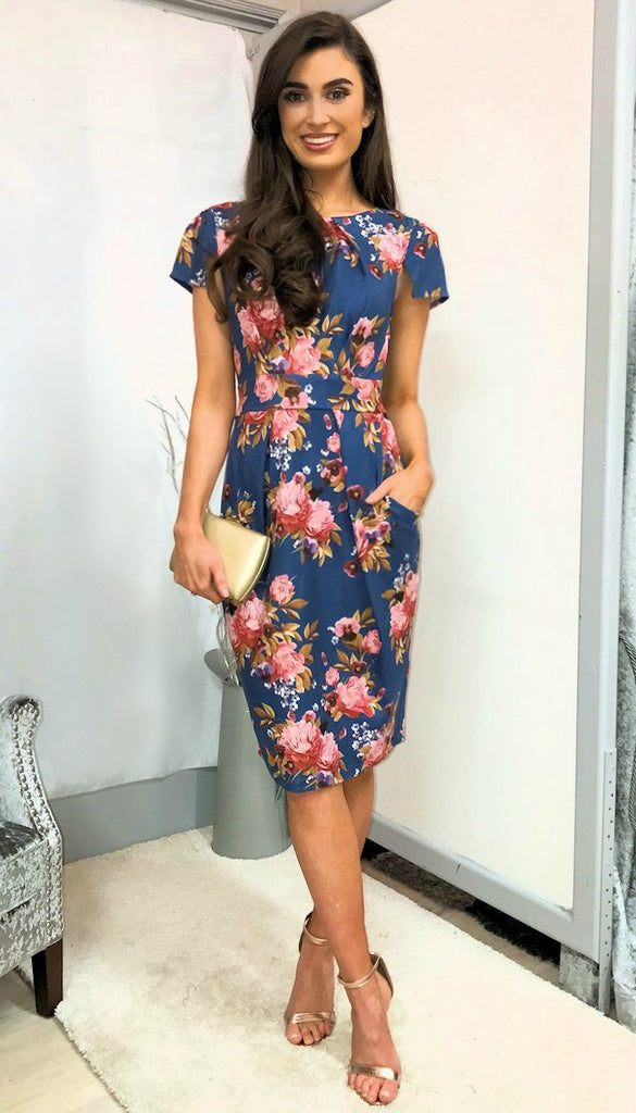 5-5382 - (SIZES 16,18 ONLY) - Floral Tulip Dress
