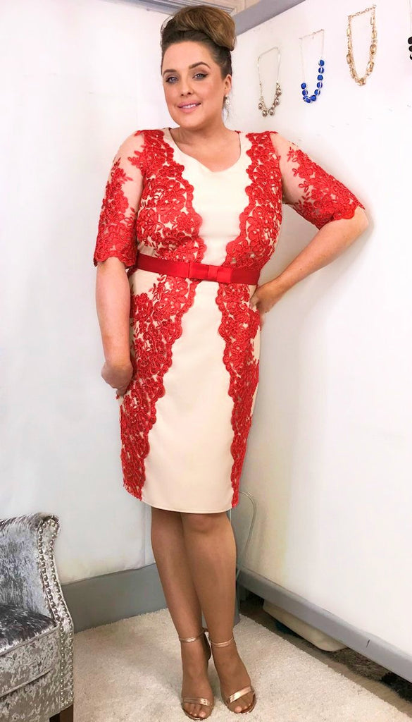 5500P Red Crochet Dress + Bolero