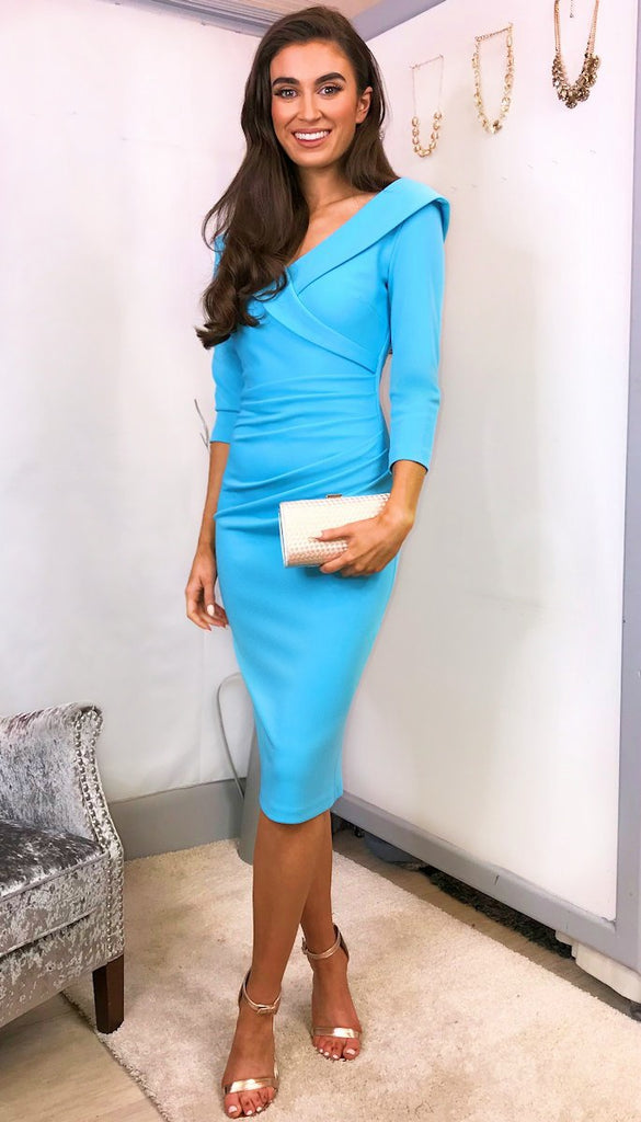 5-5554 - (SIZE 8 ONLY) - Sky Blue Eliza Dress