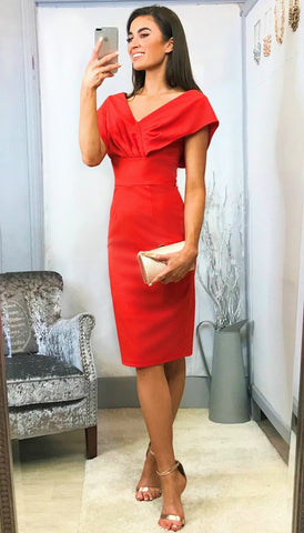 5540 Red Mariposa Bardot Dress