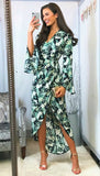 5-5703 - (SIZES 8,12 ONLY) - Indie Flute Sleeve Maxi Dress