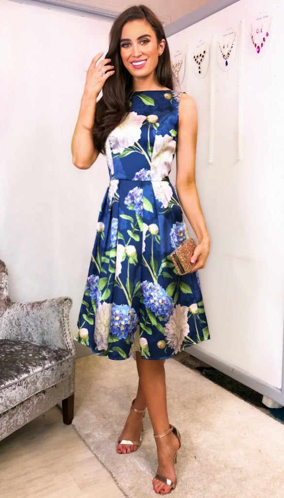 5734 Ilona Floral Printed Dress
