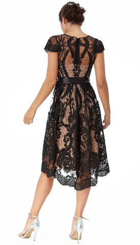 5970 Black Harlow Tuxedo Dress