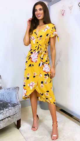 6110 - (SIZES 10,12,14) - Dara Paint Print Pleat Dress