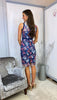 5-6184 - (SIZE 14 ONLY) - Eleanor Navy Floral Crochet Dress