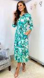 6197(B) - (SIZES 8,10,16) - Remy Floral Midi Shirt Dress