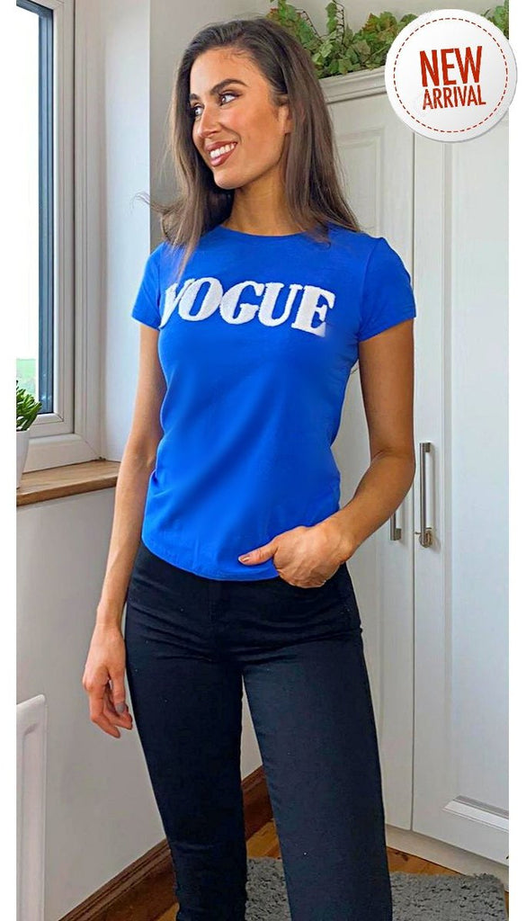 5-6315 - (SIZE 8/10 ONLY) - Blue Vogue T-Shirt