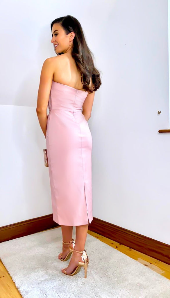 5-6448 - (SIZES 8,12 ONLY) -  Angelina Blush Bardot Dress