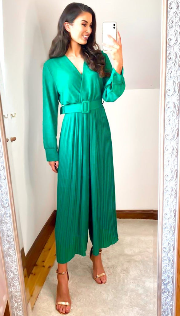 6474(B) Green Reversible Culotte Jumpsuit