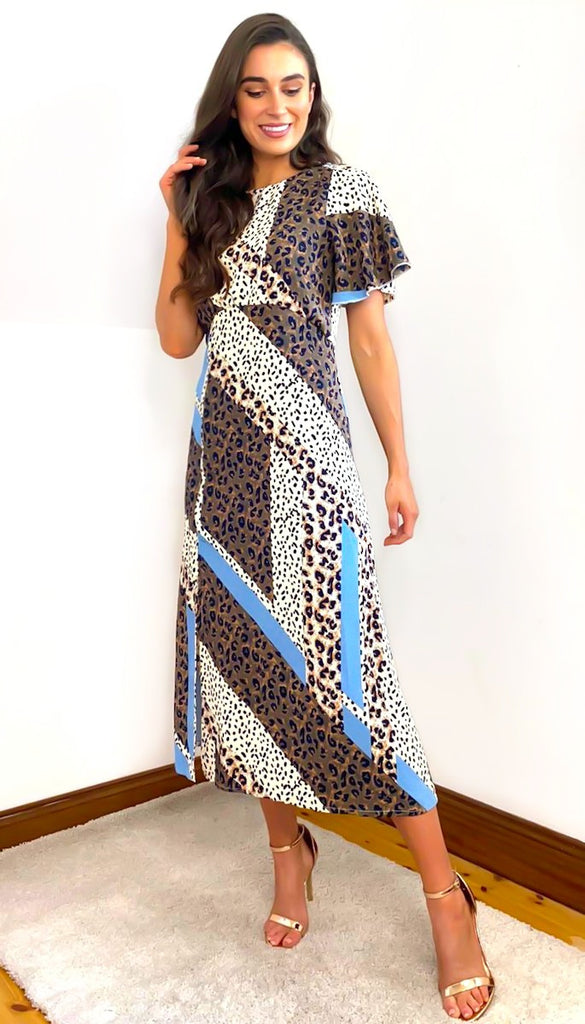 4-6482 - (SIZE 8 ONLY) - Animal Print Idabel Dress