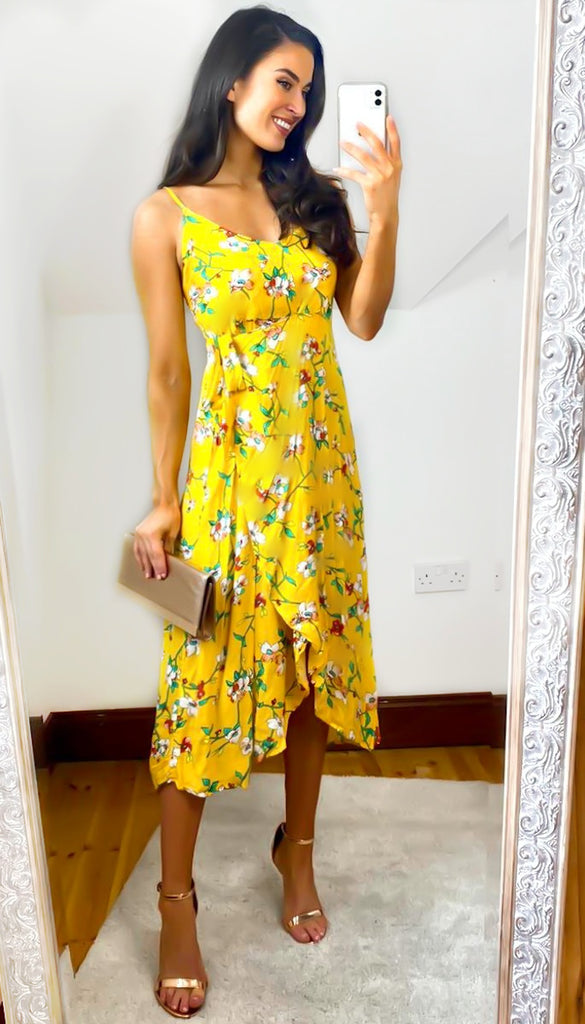 6495 Yellow Alesia Light Summer Dress