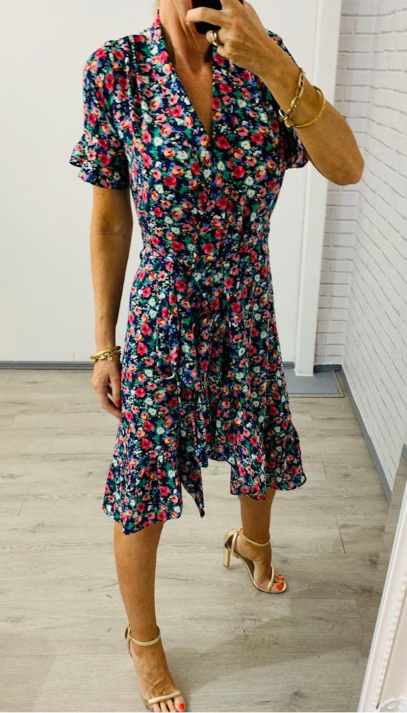 6518 Floral Lucienna Wrap Dress