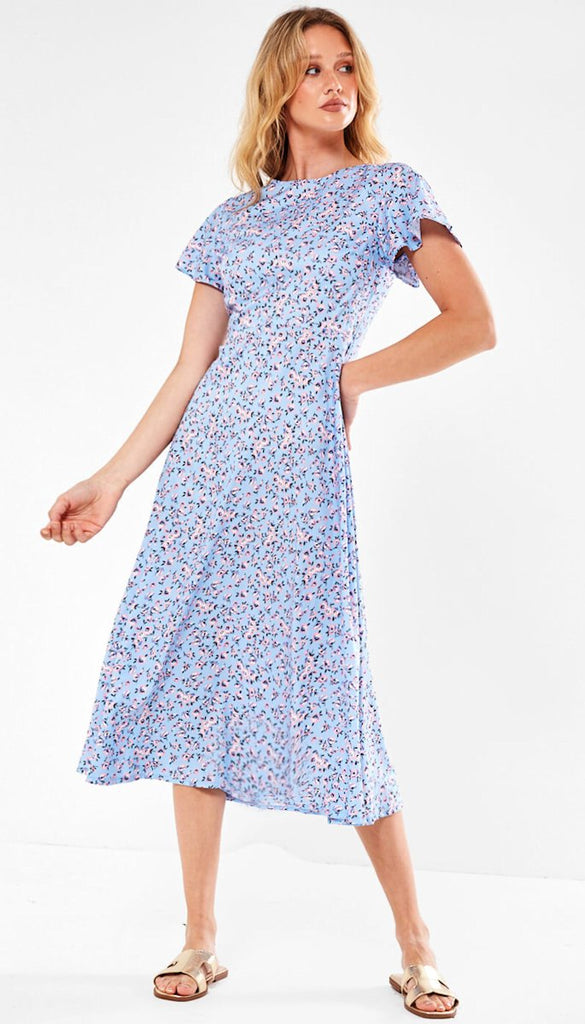 5-6519 - (SIZES 8,12 ONLY) - Alivia Floral Ditsy Midi Dress