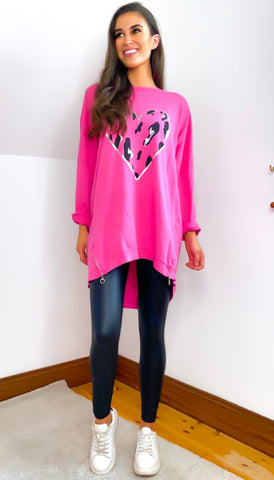 6538 Black Star Print Oversized T-Shirt