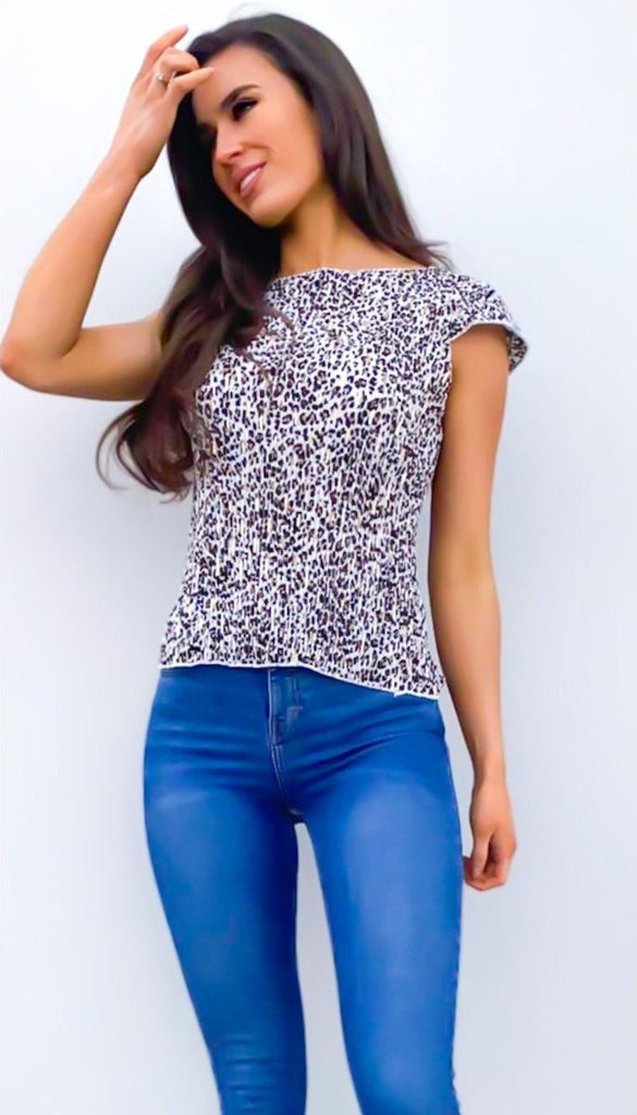 6543 Leopard Print Gypsey Top