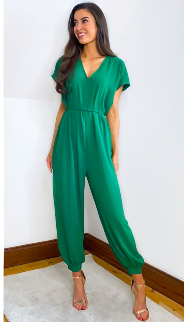 6564 Green Oversized Jumpsuit