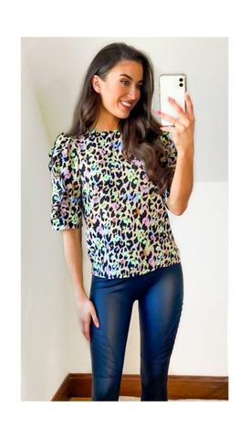 6498 Royal Heart Print Oversized T-Shirt