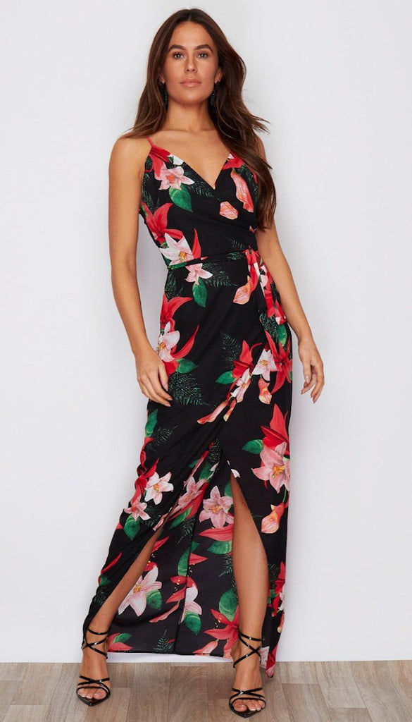 6583 - (SIZE 8 ONLY) - Lorraine Floral Maxi Dress