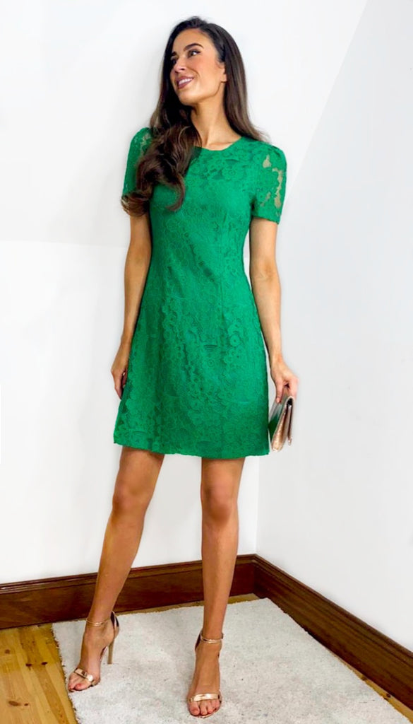 5-6626 - (SIZES 12,14 ONLY) - Aislinn Green Lace Dress