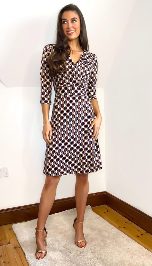 6712 Stacey Jersey Flare Dress
