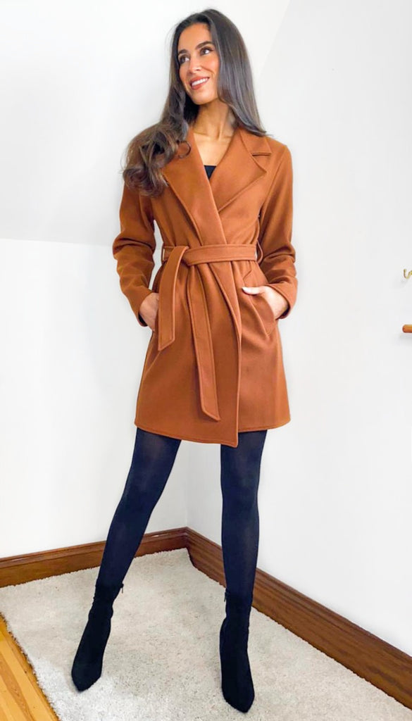 6765 Brown Susine Felt Coat