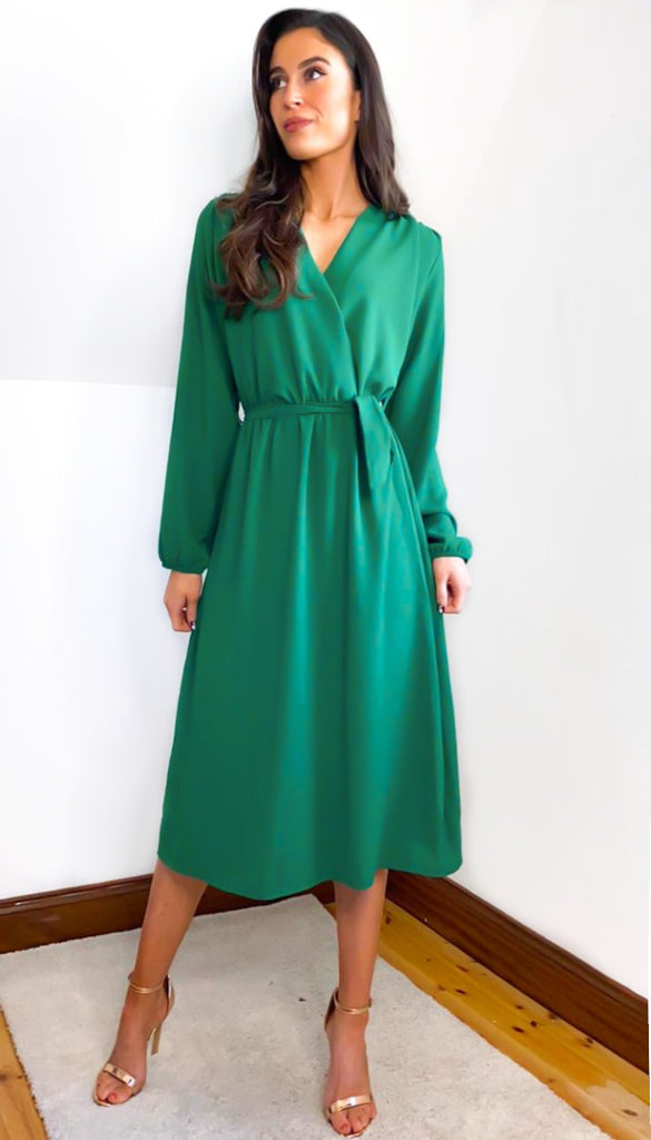 6834 Green Bondy Midi Dress
