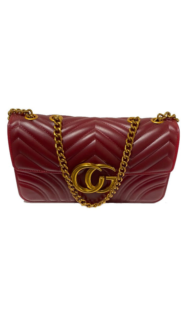 6907 Burgundy Designer Inspired Bag