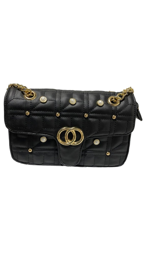 6908 Black Designer Inspired Bag