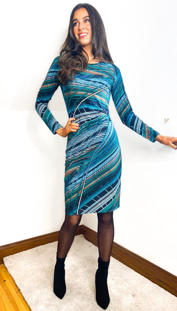 6935 Latia Multi Print Tunic Dress