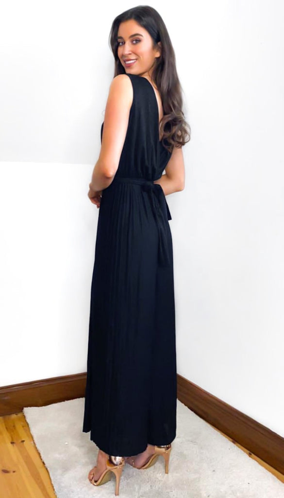 7010 Black Shimmer Jumpsuit
