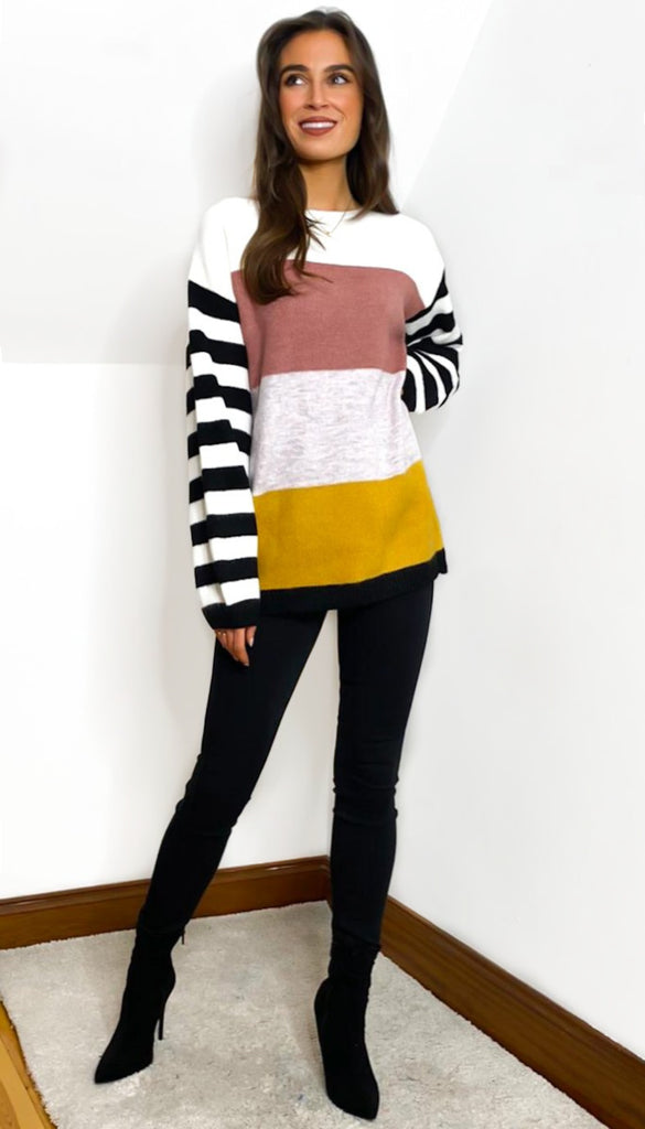 7066 Victoria Colour Block Knit