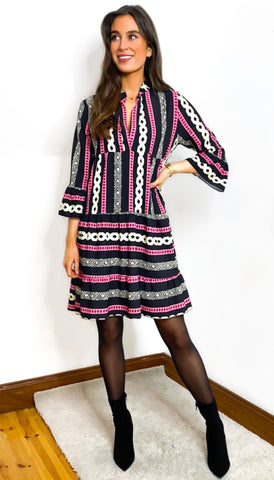 7072 Blush Tunic Knit With Sequin Detail