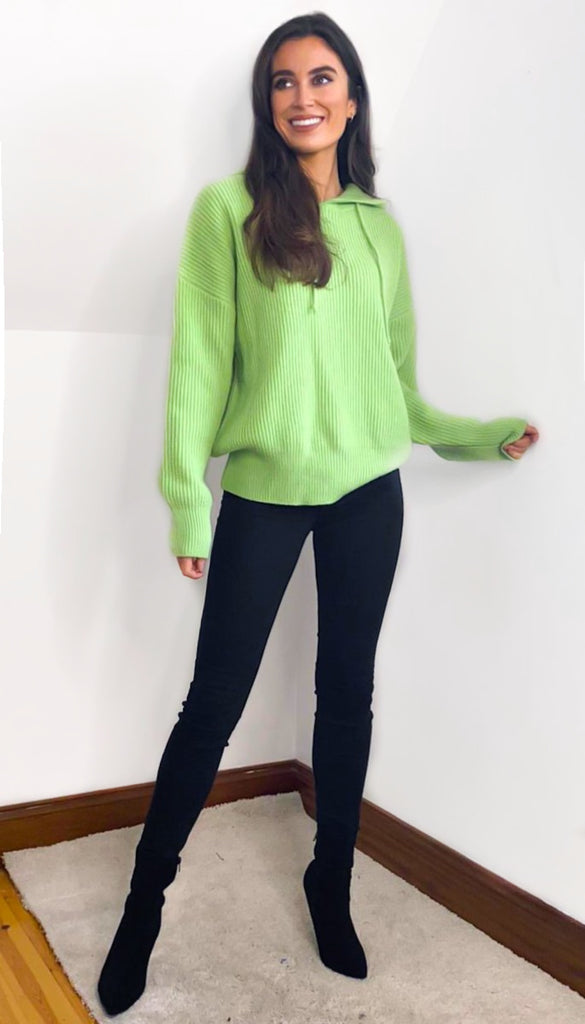 7093 Siesta Green Hooded Sweater