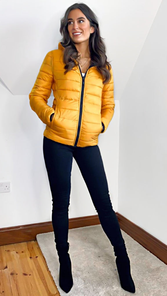 7160 - (SIZES 12,14 ONLY) - Reversible Lightweight Puffa Jacket