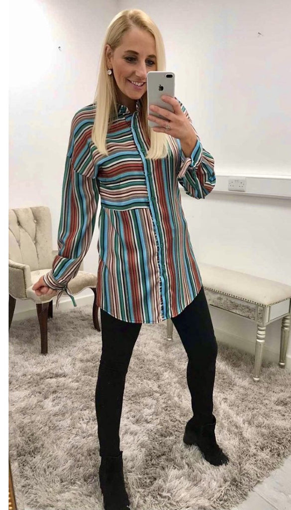 7219 Threed Colour Stripe Shirt