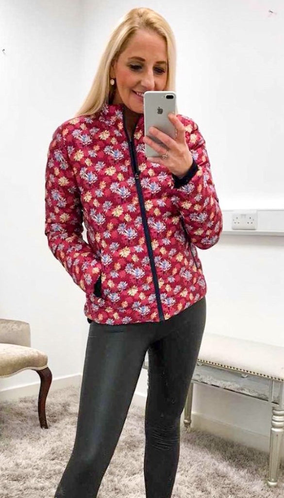 7238 Aine Multi Floral Bomber Jacket