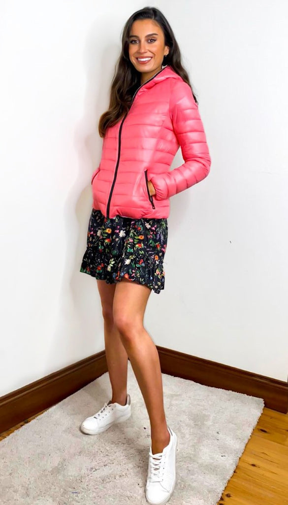7385 - (SIZES 12,14,16) - Coral Lightweight Down Jacket