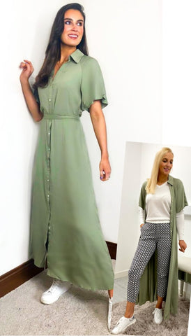 7227 - (SIZE 16 ONLY) - Tatum Mono Wrap Maxi Dress