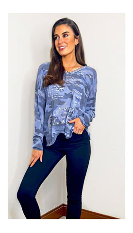 7090 Black Heart Print Shirt