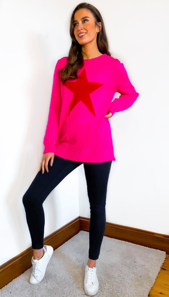1-7327 Paja Pink Star Jumper