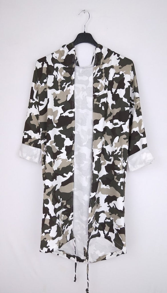 7354 White Lightweight Camoflauge Jacket