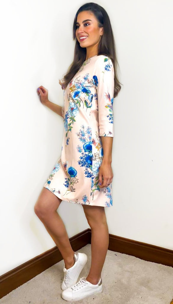1-7357 Kona Floral Tunic Dress