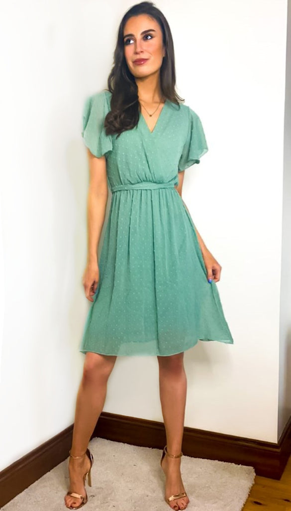 1-7389 Rozie Mint Flare Dress