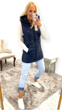 7417 - (SIZE 22 ONLY) - Navy Puffa Gilet