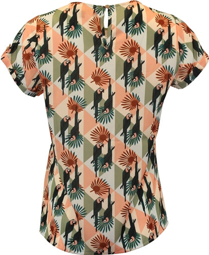 7529 - (SIZES 8,12 ONLY) - Daphne Abstract Print Top