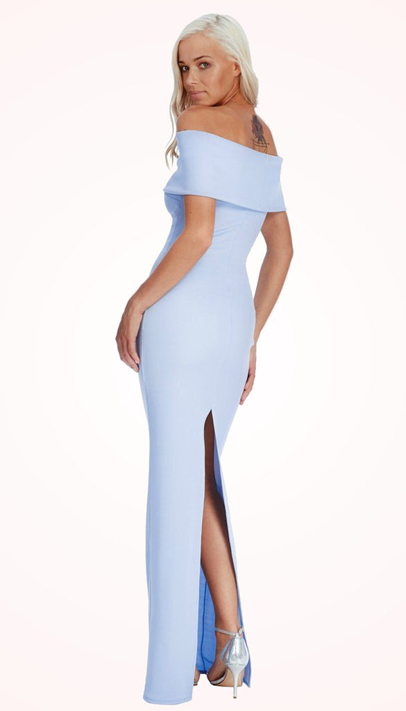 0bd151f24 ... 4-4939 (SIZE 10 ONLY) Baby Blue Ribbed Maxi Dress ...