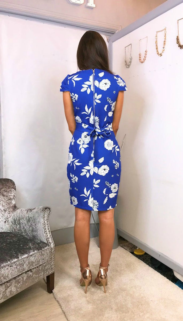 4-5547 -(SIZES 10 ONLY) - Abigail Floral Tulip Dress