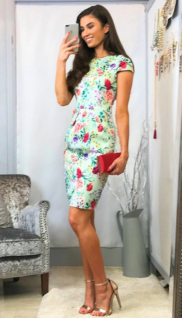 4-5667 - (SIZES 8,10,16) - Annabel Floral Tulip Dress